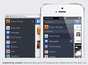 See the same clean look wherever you use Facebook — on mobile, tablet, or web.