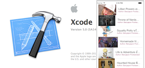 Photo of Xcode5 (GM Seed) กับการดึง Web Service มาลงบน UITableViewCell